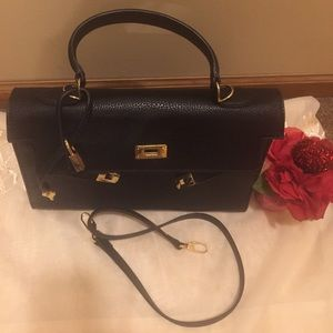 Handbags - Beautiful Black Togo Leather Handbag/Crossbody